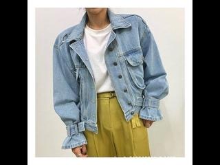 Осеннее женское повседневное джинсовое пальто bf style brief cowboy, офисное женское свободное пальто, большие размеры, топы