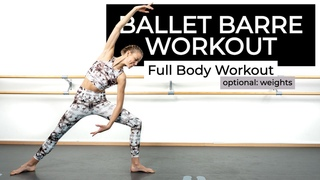 60Min Ballet Barre Workout - Full Body Strengthening Workout at Home