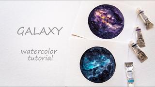 Space   Galaxy   Watercolor TUTORIAL