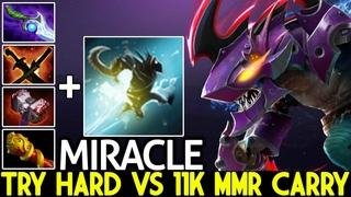 MIRACLE [Slark] Epic Pro Try Hard Against 11k MMR Carry Dota 2
