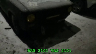 "Прокаченная ""Копейка"" с жёлтенькими фарами Tuned VAZ 2101with yellow lights"