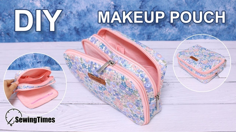 DIY Makeup pouch bag 화장품 파우치 Zipper pouch tutorial 파우치만들기 costura neceser 拉鍊包 ポーチ sewingtimes