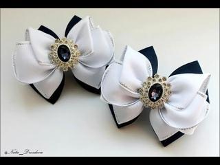 Они привели меня в восторг! Такие Красивые Бантики получились.DIY Hair Bow / Beautiful Ribbon Bow .