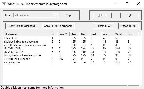 Диагностика сети при помощи WinMTR, изображение №4