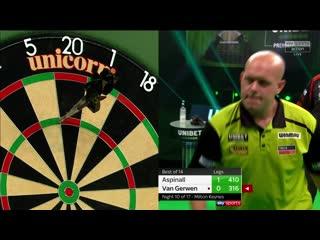 Nathan Aspinall vs Michael van Gerwen (PDC Premier League Darts 2020 / Week 10)