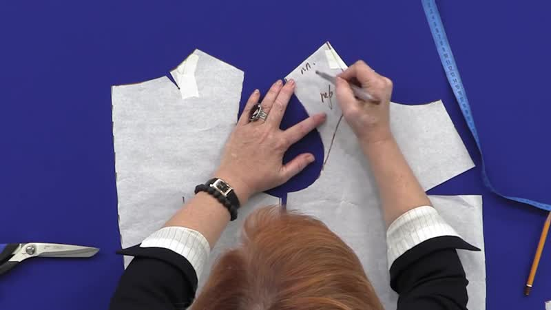 Топ из крепа и кружева с рукавом реглан и рельефами Часть 1 Моделирование топа от базовой основы