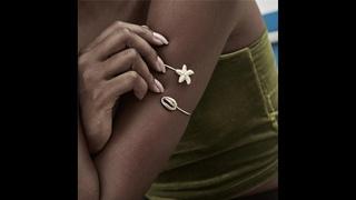 Ingemark браслет возлюбленной богемной морской звезды на руку жесткий ретро оболочка золотого цвета