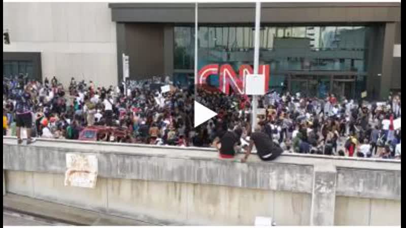 CNN HQ in Atlanta getting overrun by leftist protesters that they themselves whipped into a frenzy.
