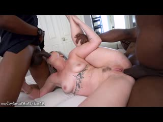 Kay Carter - Two Big Black Cock [DP, Anal, 2 On 1, IR, ATM, Blonde, Big Booty, Tattoos, Hairy, Sex Toys]