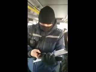 Белгород. Очередной конфликт в автобусе с контролёрами от администрации.
