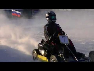 Зимний картинг в Лучегорске, Приморский край,