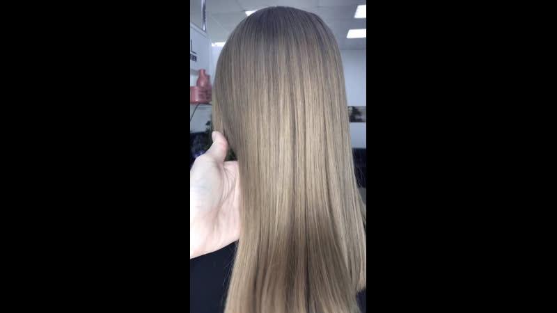 Криореконструкция ( лечение волос холодом) для постоянной клиентки ♥️😘 Пластическая хирургия ваших волос. Инновационная систем