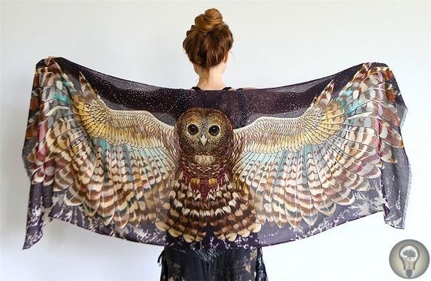 ОРИГИНАЛЬНЫЕ ПЛАТКИ-КРЫЛЬЯ ОТ РОЗЫ ХАМИТОВОЙ Птицы являются одним из любимых мотивов в женской моде. Роза Хамитова (Roza hamitova), модельер из Мельбурна родом из Казахстана, создала коллекцию