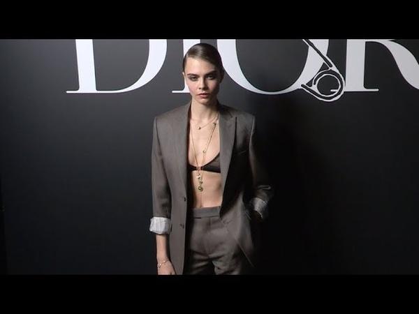 Cara Delevingne Tyga Bella Hadid at the Dior Fashion Show in Paris