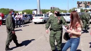 Задержания 9 мая. Казань. Фашисты не дают праздновать День Победы. Задержания в день победы