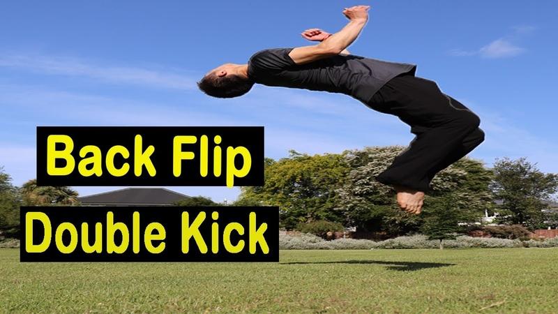 Shaolin Kung Fu Wushu Back Flip Double Kick Training Tutorial