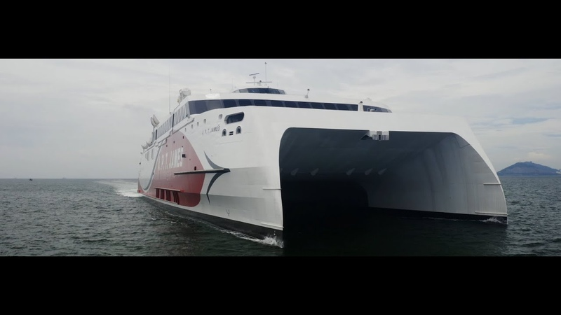 Austal Hull 397 - A.P.T. James - Showcase Video including seatrials and interior footage
