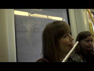 Flash mob in the copenhagen metro. copenhagen phil playing peer gynt