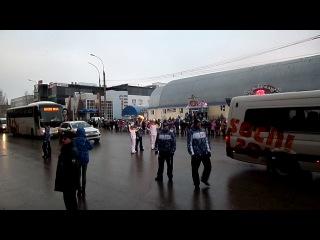Татьяна Казакова на эстафете Олимпийского огня