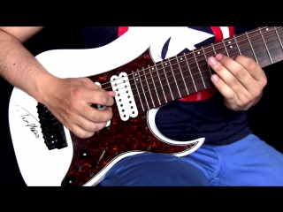 Ibanez guitar tam10 8 string guitar performance ¦ captain america winter soldier theme