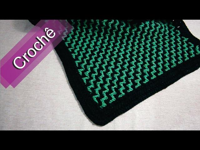 DIY Crochê Tapete 3D Listrado Diagonal Passo a Passo