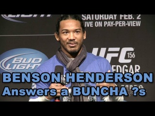 UFC Lightweight Champion Benson Henderson UFC 156 Fan Club Q&A (HD / Complete + Unedited)