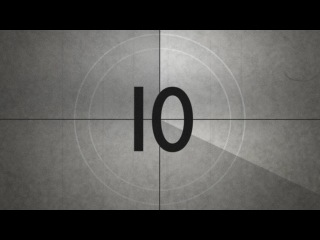 Old Movie Countdown Timer With Sound Effect HD