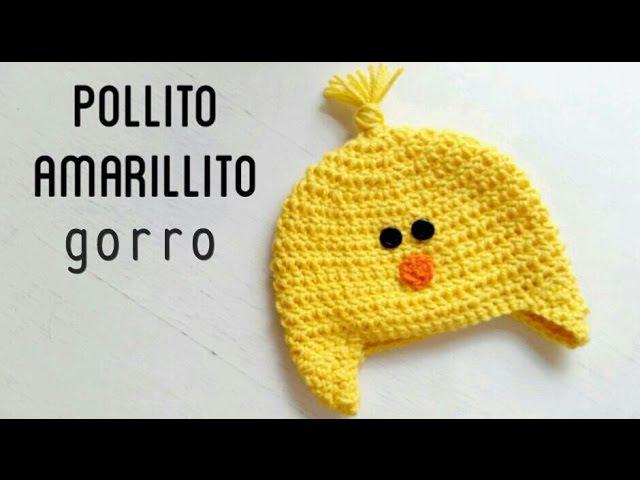 Gorro de Pollito Amarillito a Crochet How to crochet a yellow chick beanie