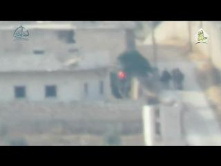 Сирия. Мухафаза Алеппо. Боевики джейш муджахиддин ПТУРят иранских поломников