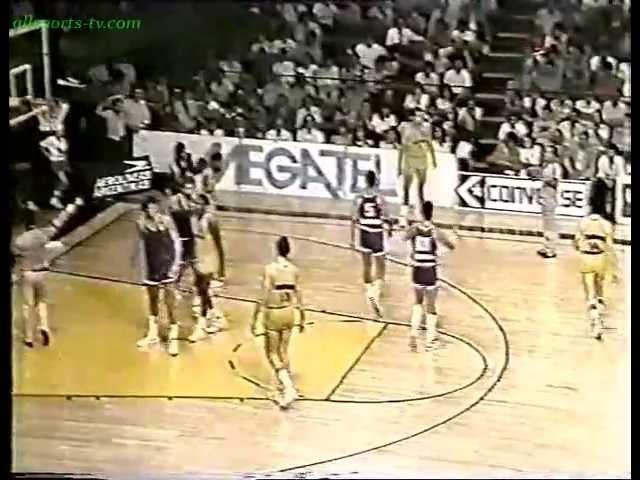 1986 C R W Jones Cibona Zagreb110 Obras Sanitarias 92 Drazen Petrovic