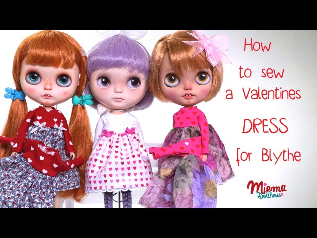 How to make a dress for Blythe dolls / Wie näht man ein Kleid für Blythe Puppen