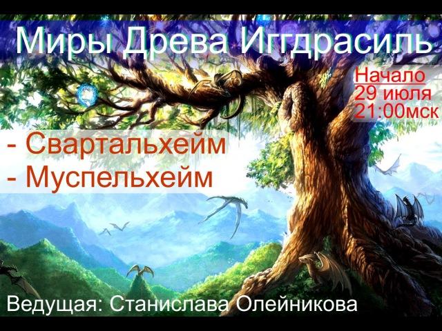Миры Древа Иггдрасиль Свартальхейм и Муспельхейм