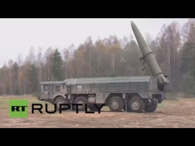أطقم صواريخ إسكندر أم الروسية تتدرب على تدمير مراكز القيادة لعدو افتراضي