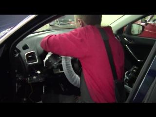 Mazda 3 и Mazda 6 2014г.в установка StarLine A93 + камера заднего хода