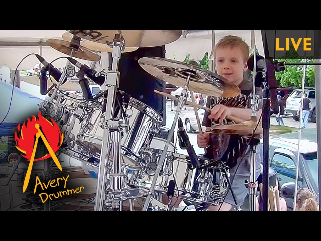 WIPE OUT LIVE 6 year old Drummer
