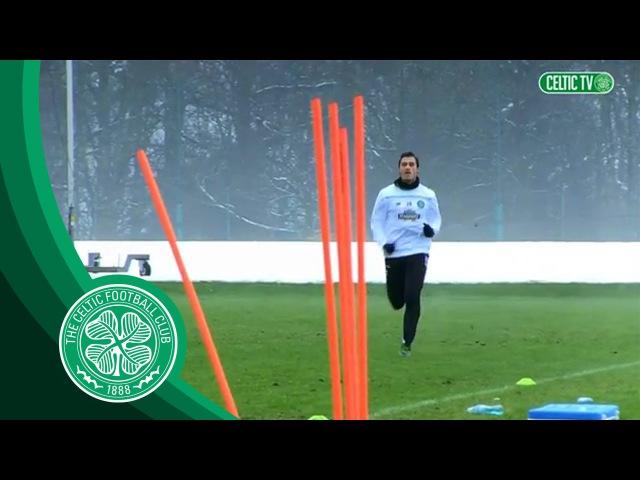 Celtic FC Erik Sviatchenko's first day at training