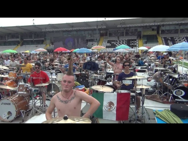ROCK IN 1000 MEDLEY GUITAR BASS DRUMS - CESENA Italy -