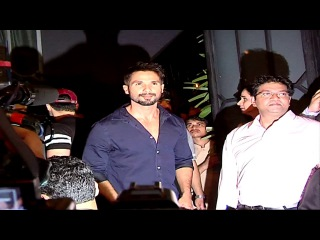 Shahid Kapoor at the success party of BAAGHI movie.