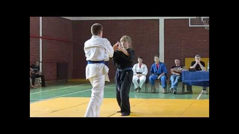 Realni aikido-Polaganje za braon pojas-Nikoleta
