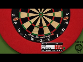 Adrian Lewis vs Michael van Gerwen (2017 Premier League Darts / Week 13)