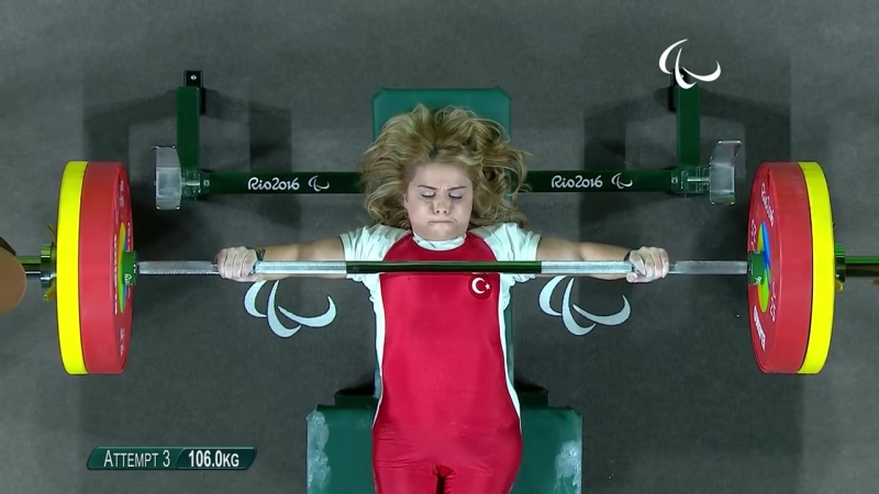 Turkey National weightlifter Nazmiye Muratlı 2016 gold medal in Rio Paralympic