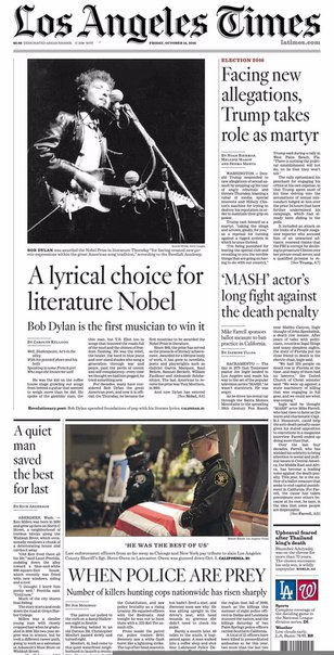 Los Angeles Times  October 14- 2016