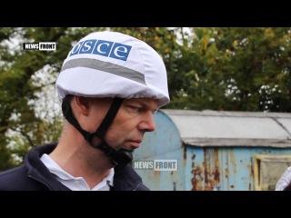 Замглавы СММ ОБСЕ Хуг на блокпосту ЛНР попил чаек, приготовленный бойцами Народной милиции