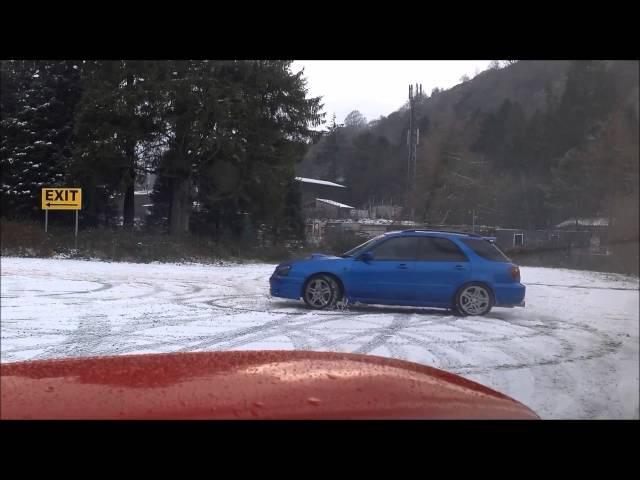 Subaru Impreza WRX Wagon Snow Drifting Prodrive Blobeye