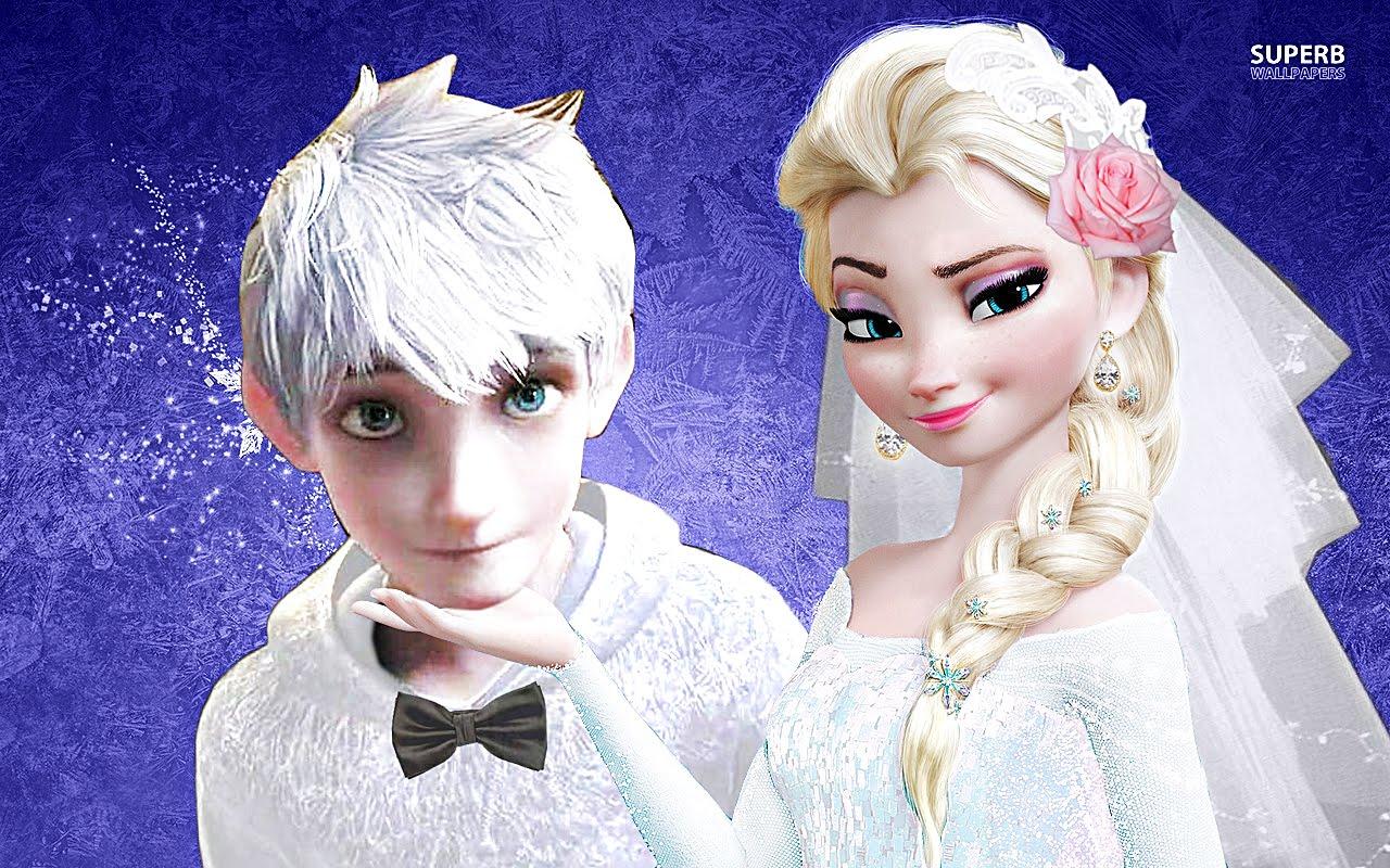 Эльза и джек картинка на белом фоне