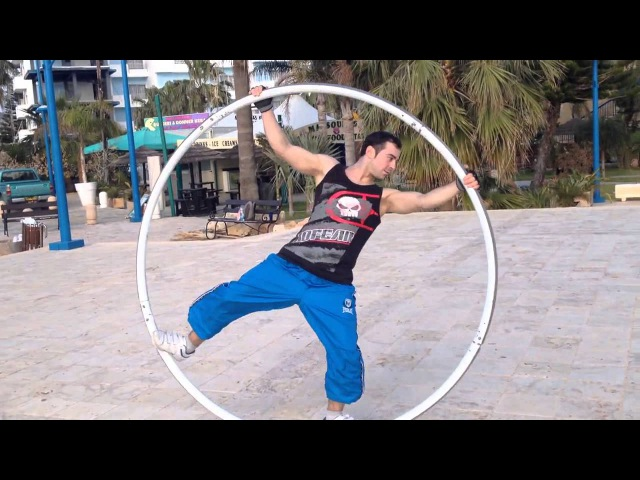 Cyr wheel Limanaki beach