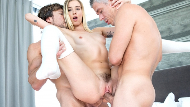 Radiant Blonde Gets Double Screwed By Two Friends Motherless Fappening 1