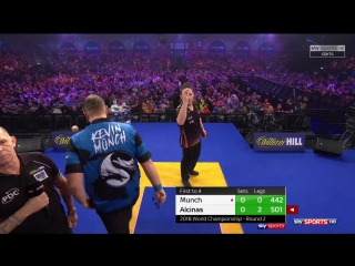 Antonio Alcinas vs Kevin Münch (PDC World Darts Championship 2018 / Round 2)