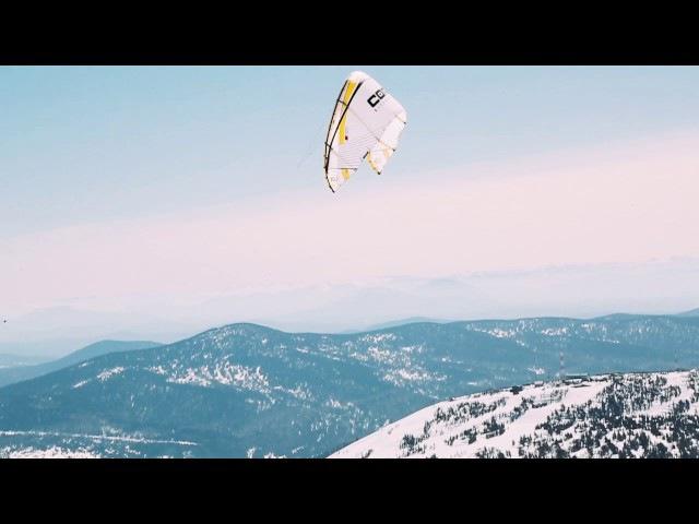 Snow kiting flights in Sheregesh Кайтинг в Шерегеше Полёты на Core