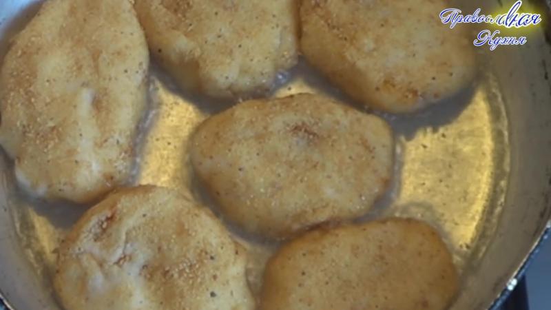 Зразы Манные С Капустой ПОСТНОЕ МЕНЮ Semolina Zrazy stuffed cutlets With Cabbage LATE MENU